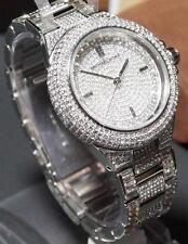 NEW Michael Kors Women's Camille Silver Watch MK5869 w/ 384 Clear Pave Crystals