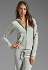JUICY COUTURE DARK GREY VELOUR HOODIE LARGE