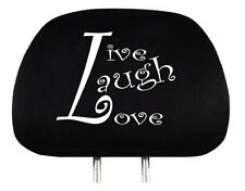 NEW DESIGN LIVE LAUGH LOVE LOGO CAR TRUCK AUTO SEAT HEADREST COVER ACCESSORIES