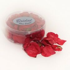 Rose Petals silk wedding table confetti Red