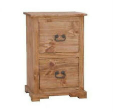 Rustic 2 Drawer File Cabinet Western Real Solid Wood Cabin Lodge