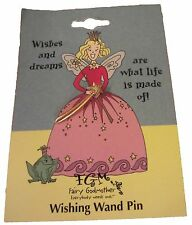 "NEW ""Wishes and dreams are what life is made of!"" Jewelry Wishing Wand Pin Gift"