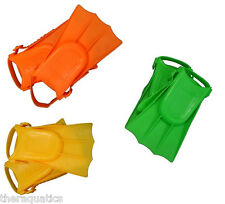 Learn to Swim FINS Toddler Swimming Kids Child Flipper SOFT Adjustable GREEN New