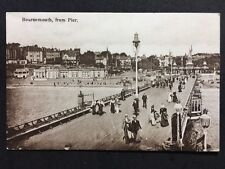Vintage Postcard - Dorset #C02 - RP Bournemouth From Pier - Unusual Clear Image