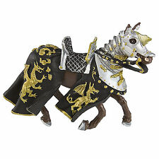 Horse With Black Robe And Gold Dragon Figure Safari Ltd NEW Toys Fantasy Figures