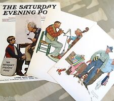 Vintage Original Print The Saturday Evening Post 1971 A Visit w/ Norman Rockwell