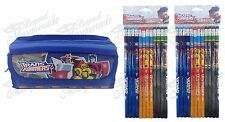 (25ct) Transformers Teen School Boys Stationary Set + Pencil Pouch Combo