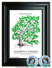 Wedding Guestbook FINGERPRINT TREE 13x19 modern keepsake, WEDDING GIFT, tree 107