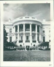 1976 US Marine Band on White House Portico Original News Service Photo