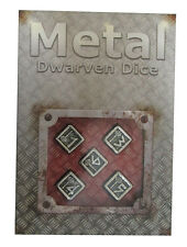 Dwarven Metal Dice Set D6 (5) QWS 56MDW35