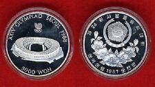 1987 S KOREA Large 1/2 OZ Silver Proof  5000 Won- Olympic Stadium