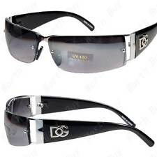 New DG Mens Womens Rectangular Rimless Designer Fashion Sunglasses Shades Black