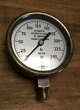vintage brass water pressure gauge  reliable automatic sprinkler corp Youngstown