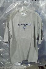 NCAA EMBROIDERED Penn State Over Logo & PSU on Gray Lee Sport T-SHIRT Adult XL