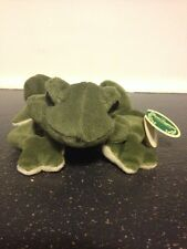 Rare Bearington Bears Plush Frog, 'Frank' Tag, 3040 Green and Cream 8 Inches