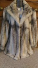 J28 new design 100% real saga cross mink fur coat
