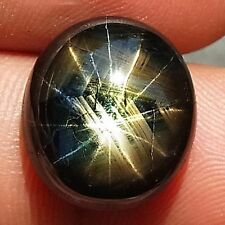 15.30ct.PICTURESQUE GEM! 100%NATURAL 12 RAYS BLACK STAR THAILAND'S SAPPHIRE
