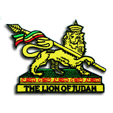 Lion of Judah Rastafari Patch Reggae Rasta Jamaica Bob Marley Embroidered Emblem