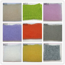 9 color Mohair Crochet Knit cream Wrap Cloth Newborn Baby Photo Photography Prop