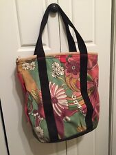 Lucky Brand Tote Double Strap Handbag Floral Green Pink Yellow White Black
