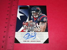 2013 PLAYBOOK Owen DANIELS #93 Autograph SP/81 Houston TEXANS Wisconsin BADGERS