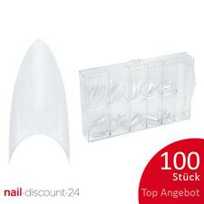 100St. Tipbox STILETTO klar Tipkasten Nageltips künstliche Fingernägel NAILS