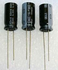 3x   Nichicon VY 2200uF 16v 105C 10x20mm GENUINE Elec Capacitor USA Seller