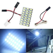 10X 5730 24 SMD Cold White LED Light Panel T10 W5W C5W Festoon Dome Car Lamp