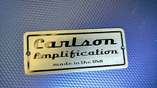 Custom Amp Amplifier Guitar Case Headstock Name Face Plate Tag Engraved Aluminum
