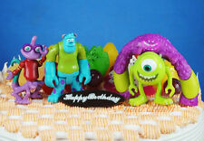 Disney Pixar Monster Inc University Sulley & Friends Figure Cake Topper Set 5