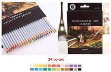 24/36/48 Colored Water Color Pencils Unique Colors Premium Kids&Pro Art XmasGift
