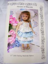 "Effner 13"" Little Darling Wardrobe Pattern, Skirt, Slacks, Tops, Hat"