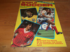 Football Magazine World Soccer December 1984 World Club Cup Special Liverpool