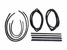 Full 10 pc Weatherstrip Seal Kit For Jeep Wrangler 76-95 YJ & CJ7 CJ8 Scrambler