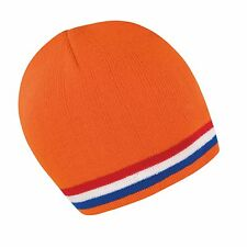 Soccer Football Team Beanie Hat In 4 Dutch Holland Netherlands Colours -One Size