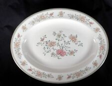 "Minton Bone China Jasmine S771 Oval Serving Platter 13"" Lovely Condition"
