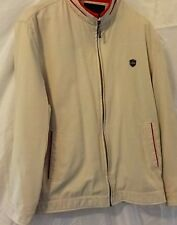 Men's Jacket Golf Style Medium Weight Silky Lining Man Sz M to L Sand Color