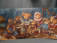 "WALLPAPER BORDER "" ENCORE"" TEDDY BEAR MUSICAL BAND  R47689  WASHABLE STRIPABLE"