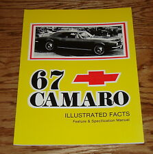 1967 Chevrolet Camaro Illustrated Facts Feature Specification Manual 67 Chevy