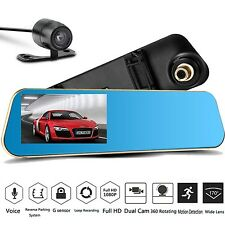 "Android 5"" HD 1080P Rear View Mirror Dash Cam CAR DVR Backup Camera 4.3 Inch"
