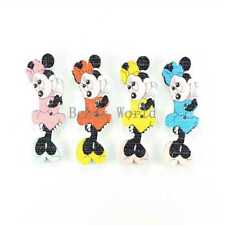100 Pcs Mixed Minnie Mouse 2 Holes Wood Sewing Buttons Scrapbooking 39x13mm