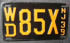 1939 New Jersey High Quality Passenger license plate