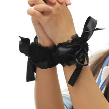 New Funny Adult Games Black Lace Sexy Handcuffs Blindfold Wrist Cuffs Eye Masks