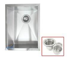 """15"""" 16 Gauge Stainless Steel Undermount Zero Radius Kitchen / Island / Bar  Sink"""