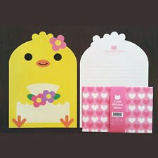 Cute Flower Chick Animals Letter set - 4sh Writing Stationery Paper 2sh Envelope