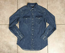Polo Ralph Lauren, Original Western Style Cotton Indigo Shirt Large