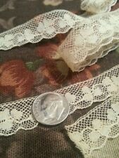 3 pc Antique French Dolls Lace Baby Trim Edging Clover Shamrocks Design Collage
