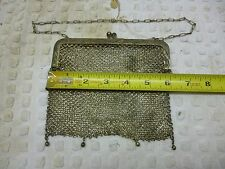 "Antique German Silver Ladies 6"" mesh purse"