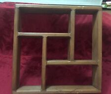 Wooden Display Shadow Box Shelf Wall Mounting Vintage