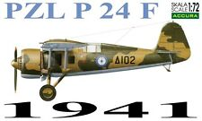 PZL P 24 F (GREEK AF 1941 MARKINGS) 1/72 ACCURA RESIN